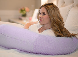 Pregnancy Pillow® Lilac Minky Body Pillow - Melon Bellies