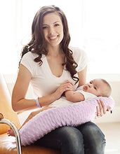 Load image into Gallery viewer, Pregnancy Pillow® Lilac Minky Nursing Pillow - Melon Bellies