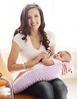 Pregnancy Pillow® Lilac Minky Nursing Pillow - Melon Bellies