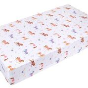 Load image into Gallery viewer, Wildkin Horses Fitted Crib Sheet - Melon Bellies