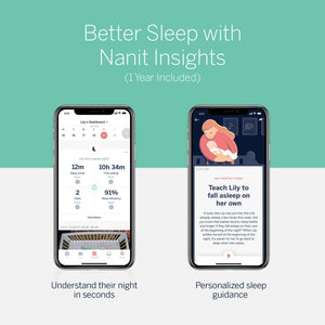 Nanit Plus™ Video Wall Mount Baby Monitor with Sleep Tracking - Melon Bellies