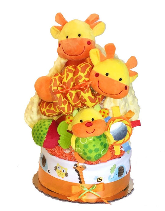 Crib Critter Giraffe Diaper Cake - Melon Bellies