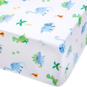 Load image into Gallery viewer, Wildkin Dinosaur Land Fitted Crib Sheet - Melon Bellies