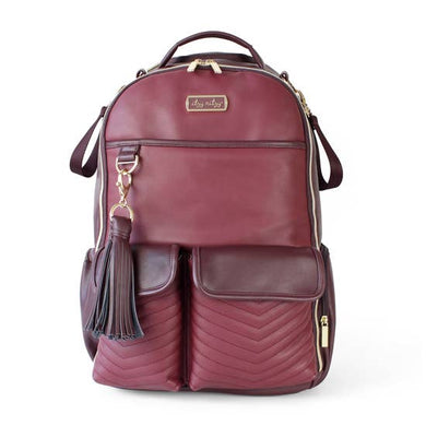 Itzy Ritzy® Boss Diaper Bag Backpack - Hello Merlot - Melon Bellies
