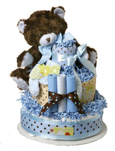 Load image into Gallery viewer, It's a Boy-It's a Girl Bear Diaper Cake (Blue or Pink) - Melon Bellies