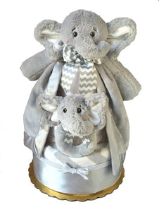 Lil Spout Elephant Diaper Cake - Melon Bellies