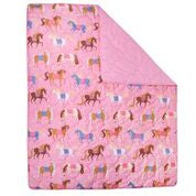 Wildkin Microfiber Horses Bed in a Bag - Melon Bellies