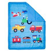 Load image into Gallery viewer, Wildkin Trains, Planes, Trucks 3 pc Bed in a Bag - Melon Bellies