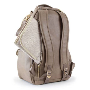 Itzy Ritzy® Boss Diaper Bag Backpack - Vanilla Latte - Melon Bellies