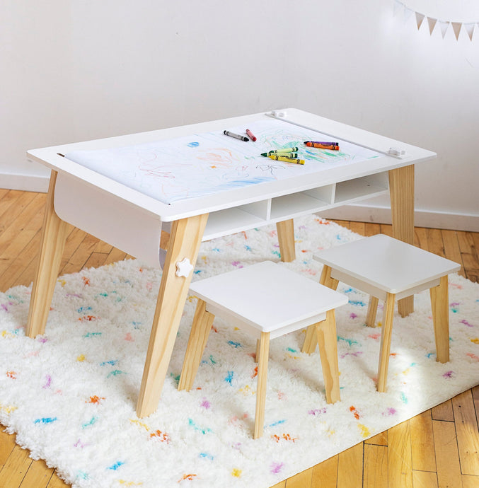Wildkin Arts & Crafts Table - White - Melon Bellies