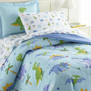 Wildkin Dinosaur Land 100% Cotton Bed in a Bag - Melon Bellies