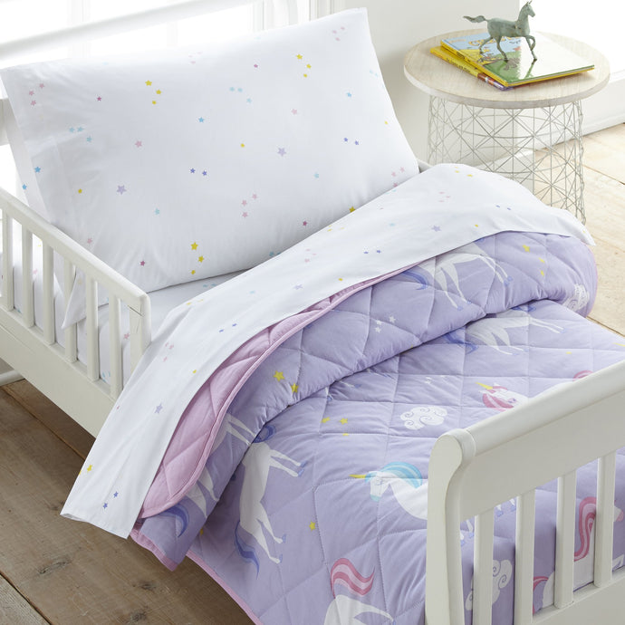 Wildkin Unicorn 100% Cotton Bed in a Bag - Melon Bellies