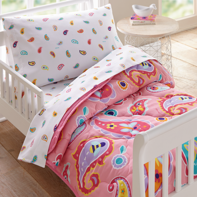 Wildkin Microfiber Paisley Bed in a Bag - Melon Bellies
