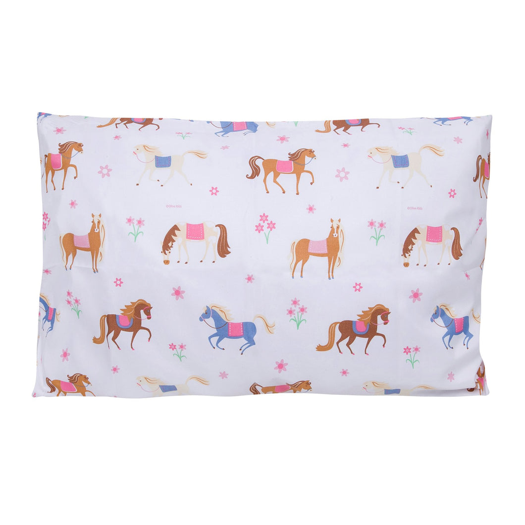 Wildkin Microfiber Horses Pillow Case - Melon Bellies