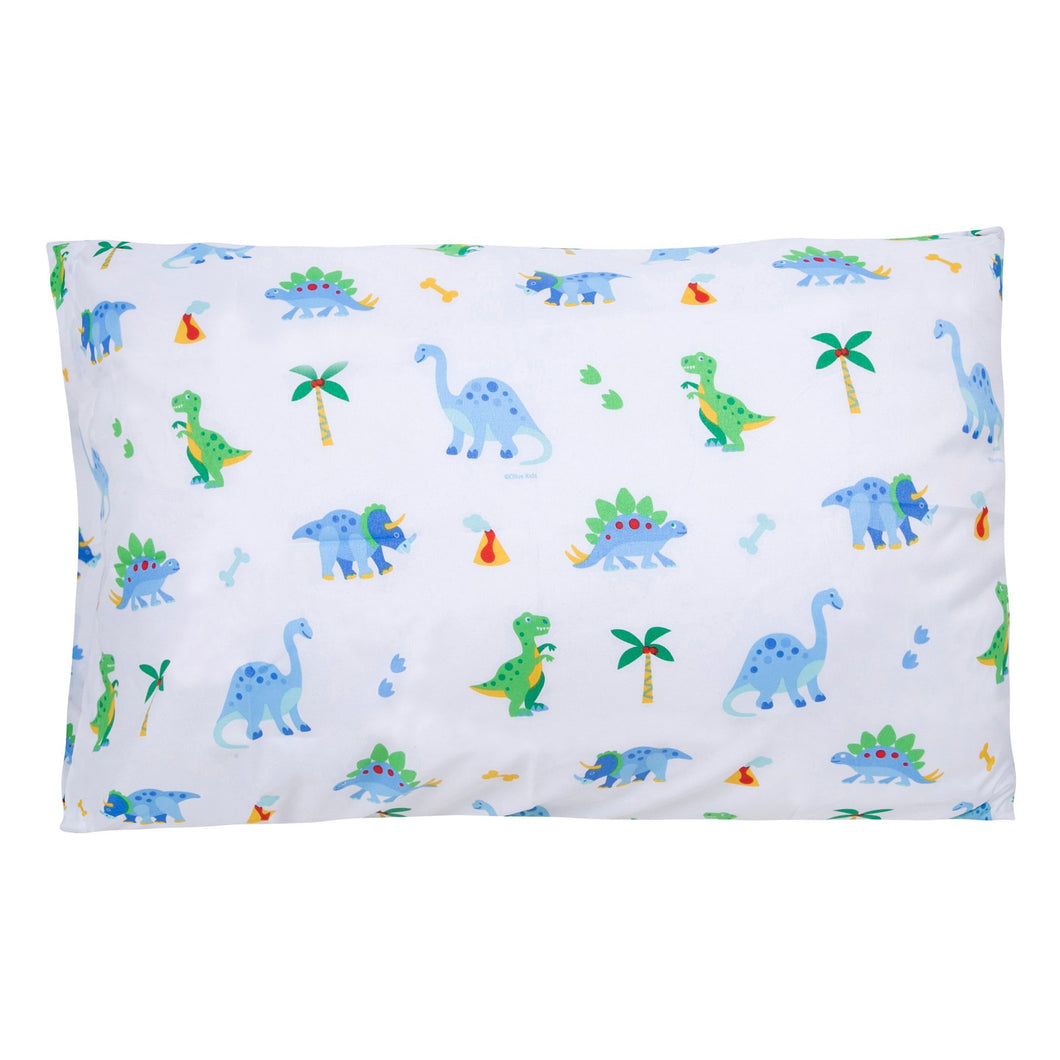 Wildkin Dinosaur Land 100% Cotton Super Soft Pillowcase - Melon Bellies