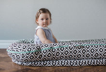 Load image into Gallery viewer, DockATot® Grand Dock - Silver Lining (chevron) - Melon Bellies