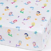 Load image into Gallery viewer, Wildkin Mermaids Fitted Crib Sheet - Melon Bellies