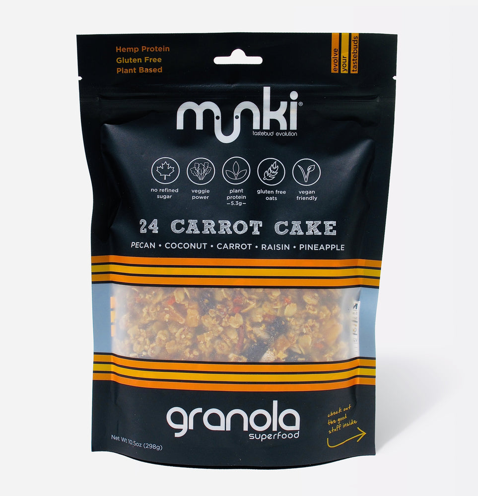 Munki Food | All Day Snacking Granola | Carrot Cake