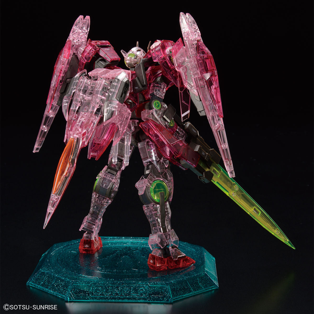 RG 1/144 Gundam Base Limited Gundam 00 Raiser [Trans-Am Clear]