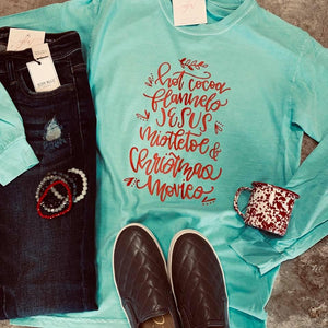 Christmas Feels Long Sleeve Tee