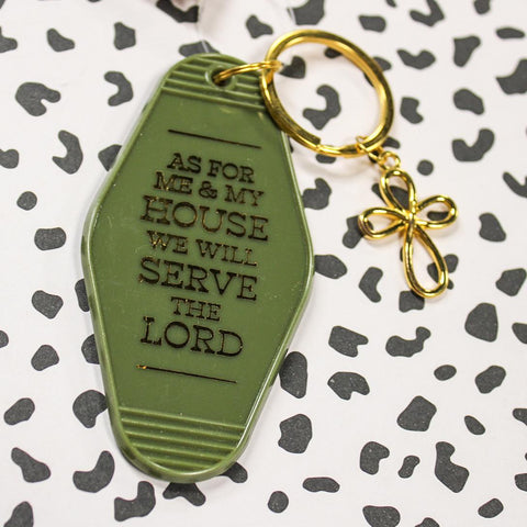 As For Me & My House We Will Serve The Lord Hotel Key