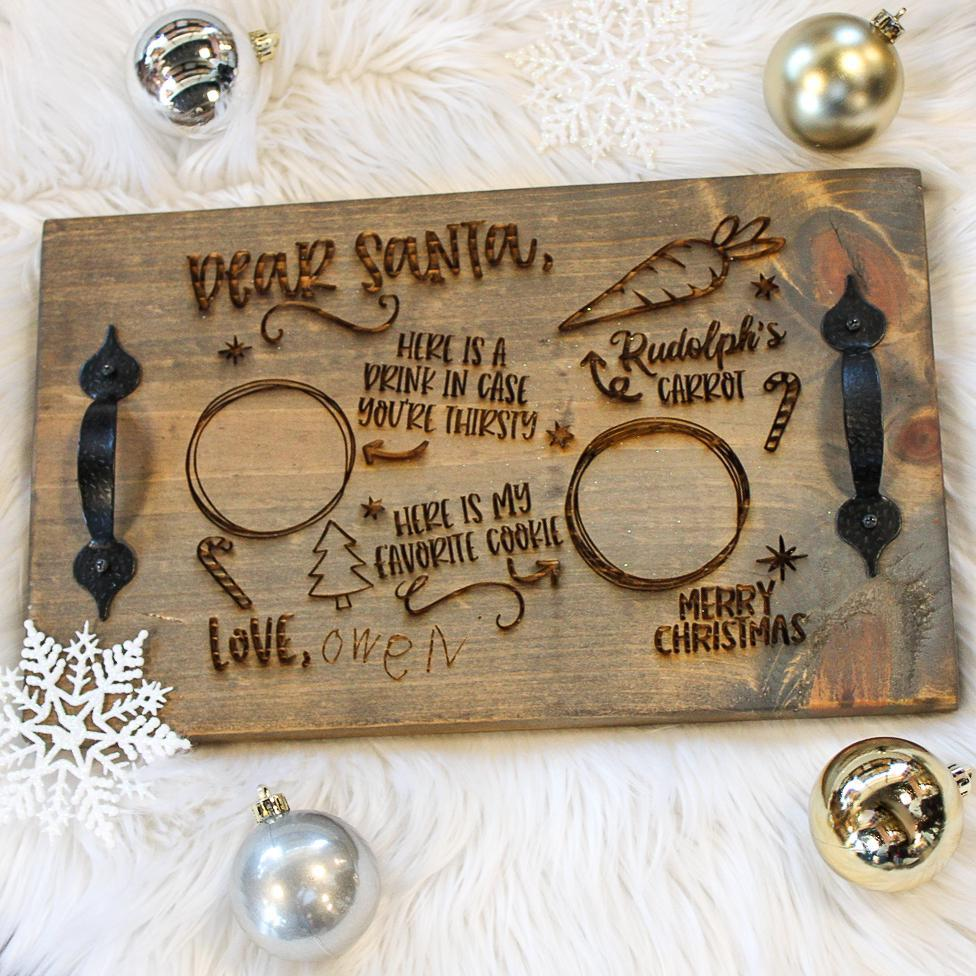 Personalized Santa Tray