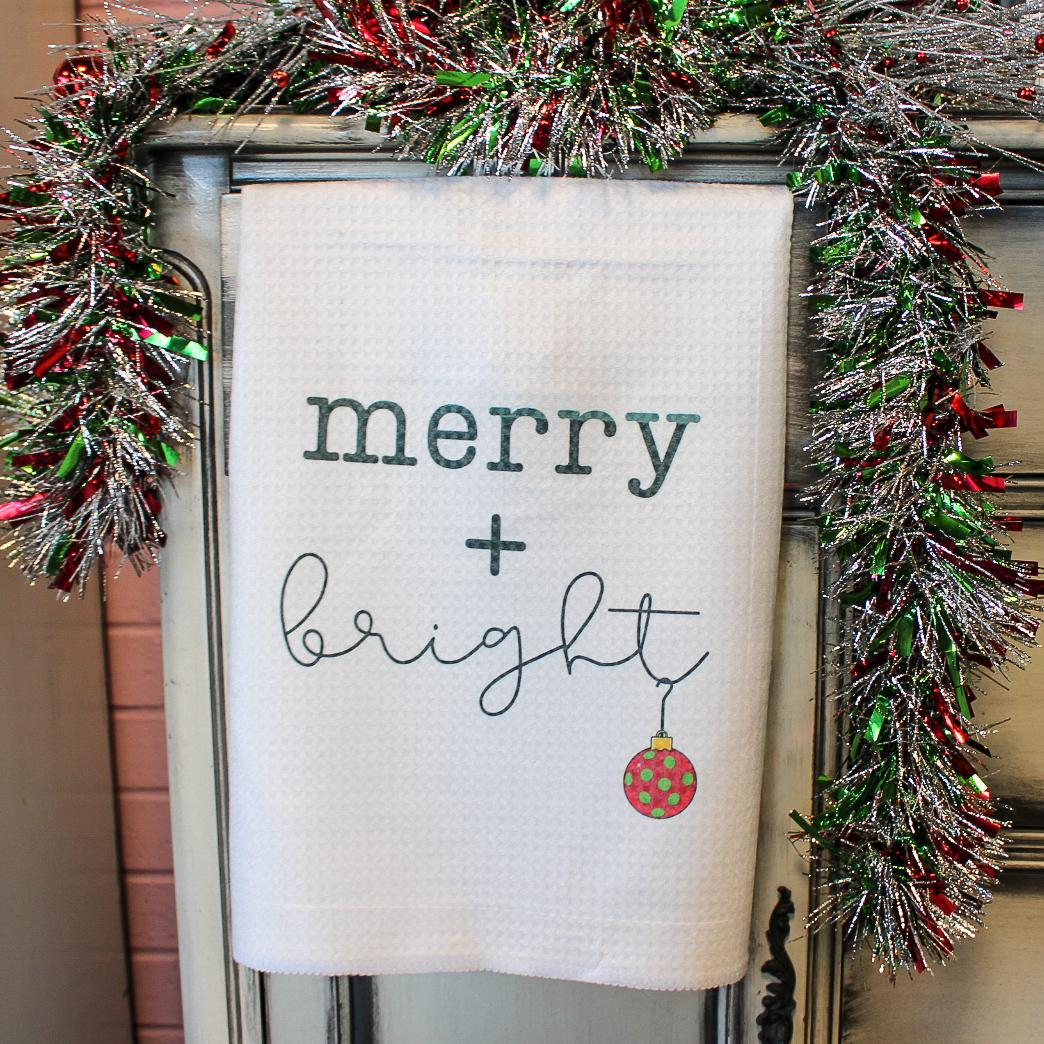 Merry & Bright Christmas Towel