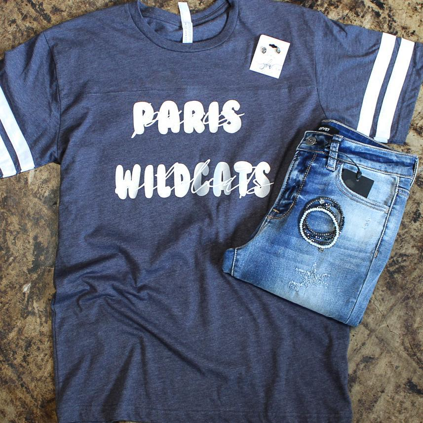 Paris Wildcat Bubble Letter Jersey Tee