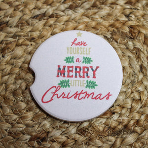 Merry Little Christmas Car Coaster