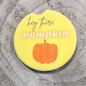 Hey  There Pumpkin Car Coaster