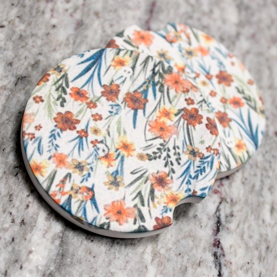 SPRINGING UP FLOWERS CAR COASTER