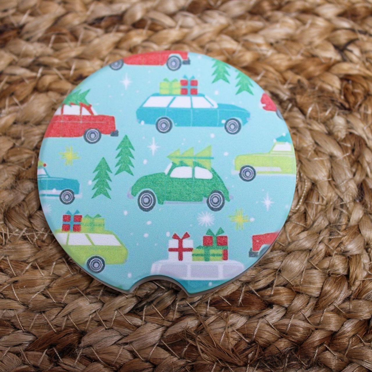 Christmas Cars Car Coaster