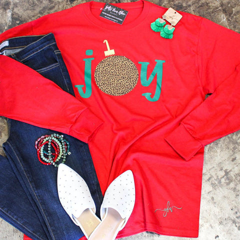 Joy Leopard Long Sleeve Tee