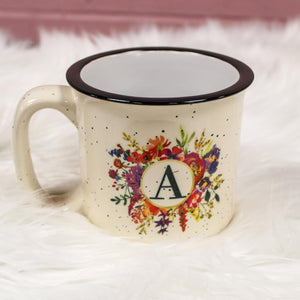 Boho Monogram Camp Mugs