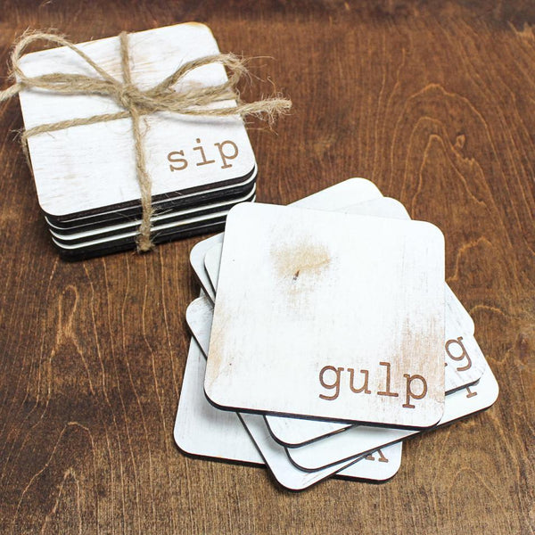 Farmhouse Coaster Set