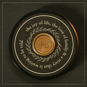 Beautiful lid with wax seal makes these salts beautiful and great for gifts.