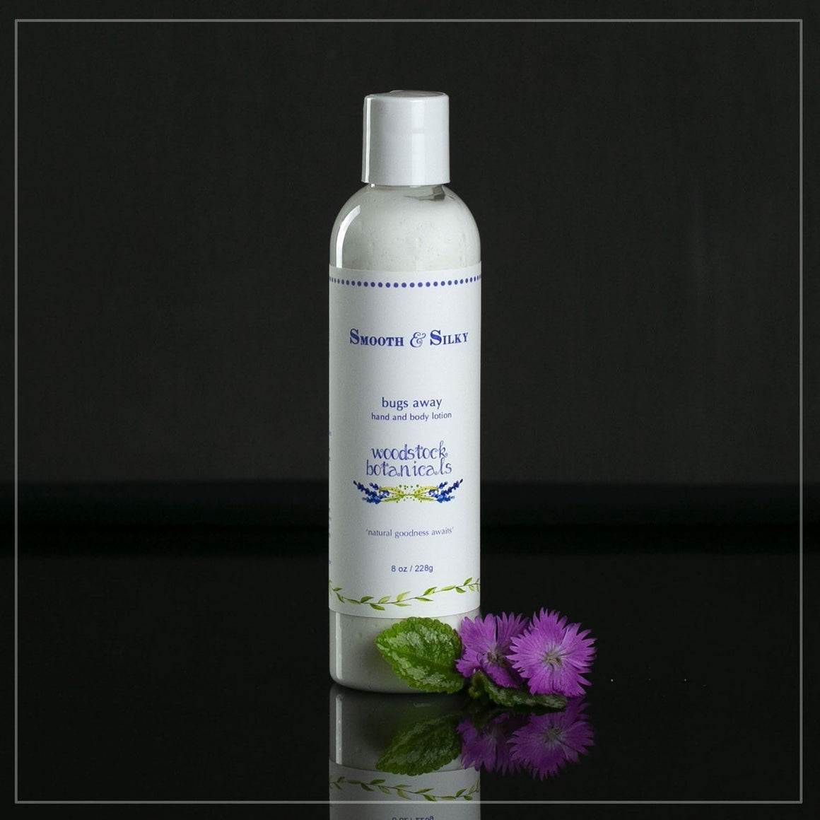 8 oz bottle of natural bugs away lotion