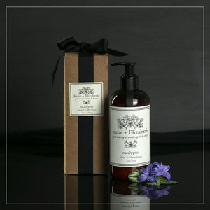 11 oz moisturizing eucalyptus lotion comes in a beautiful gift box.