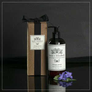11 oz bottle of peony lotion with gift box