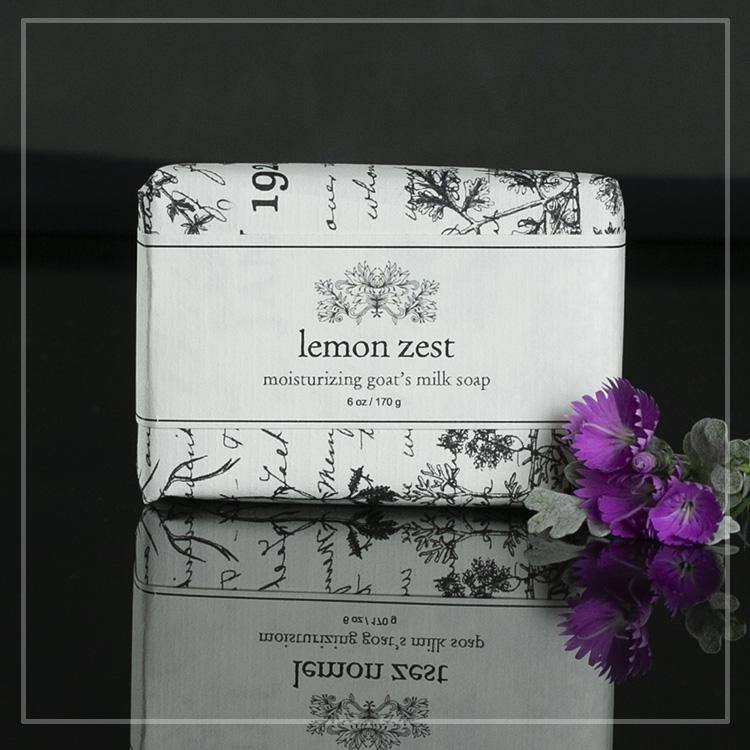 lemon zest moisturizing goats milk soap
