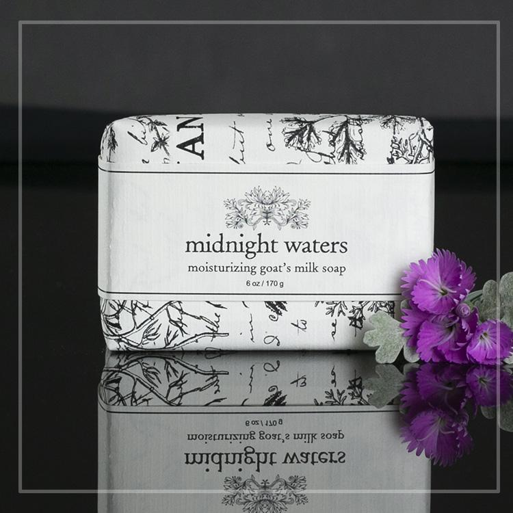 midnight waters goats milk soap
