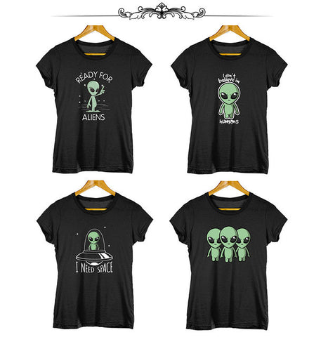 Women's Alien custom t shirt - Trendz Worldwide