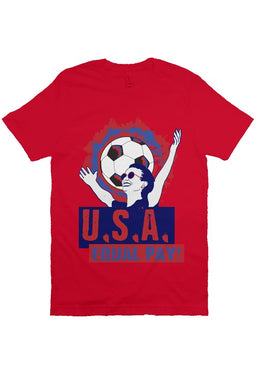 Equal Pay USA Women's Soccer Red Tee - Trendzz Worldwide