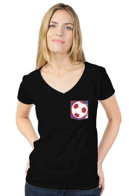 Women's Soccer Pocket Custom Tee - Trendzz Worldwide