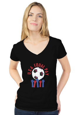 Equal Pay USA Women's Soccer Custom Tee - Trendzz Worldwide
