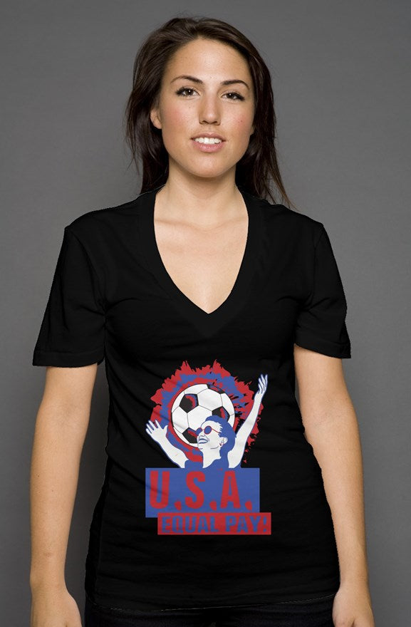 Equal Pay USA V Neck - Trendzz Worldwide