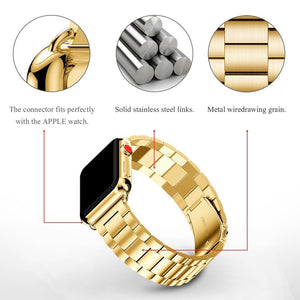 Luxury Stainless Steel Linked Watchband - Trendzz Worldwide
