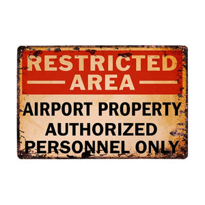 Area 51 Vintage Metal Wall Plaques - Trendzz Worldwide