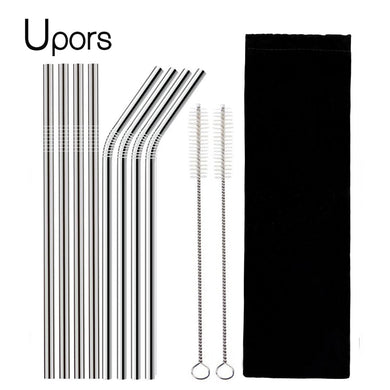 Reusable Stainless Steel Drinking Straw Set - Trendzz Worldwide