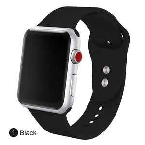 Silicone Sports Bands for Apple Watch - Trendzz Worldwide